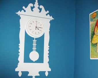 Tic-Toc Antique Wall Clock Vinyl Wall Decal Graphic