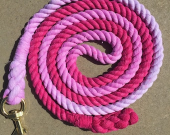 Pink Ombre Horse Leadrope