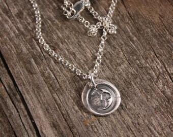Sterling Silver Half Moon Charm