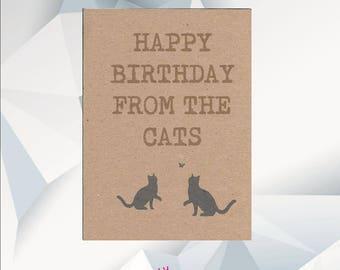 HAPPY BIRTHDAY From The CATS, Birthday Card  From The Cats, Birthday Card From Cats