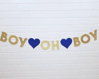 Gender Reveal Boy Oh Boy  | Oh Boy Gender Reveal | Gender Reveal Boy Banner | Gender Reveal Boy Oh Boy Banner | Baby Shower Oh Boy Banner
