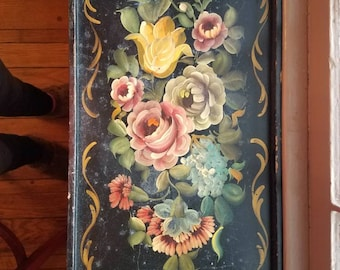Vintage hand painted tray