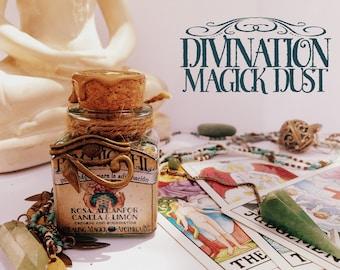 Divination Magick Incense *Psychic Veil* - Rose, Camphor, Cinnamon, Lemon & Aquamarine crystal