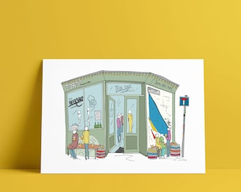 THE BEER SHOP London A5 print