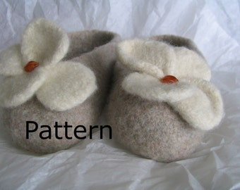 Adult Felted Slippers PDF Pattern