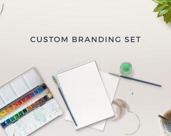 Custom Logo, Custom Branding Package, Custom Logo Design, Custom Stationery Branding Set, Branding Package, Social Media - Business Card