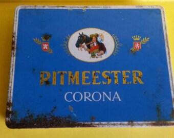 Vintage Ritmeester Corona Cigar Tin