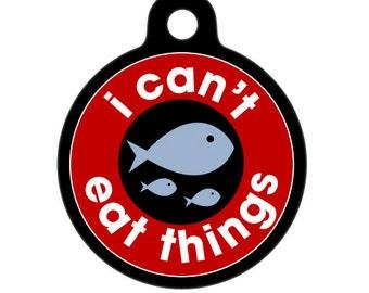 Medical Id Tag - I Can't Eat Things, Fish - Food Allergies Medical Alert Tag, ID Tag, Child ID Tag, Pet Tag