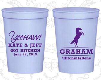 Personalized Stadium Cups, Wedding Cups, Plastic Cups, Stadium Cups, Personalized Cups, Plastic Wedding Cups, Wedding Favors Cups (C596)