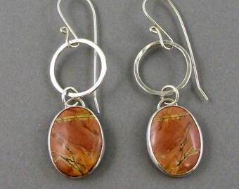 Earrings Cherry Creek Jasper  in Sterling Silver