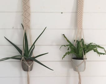 Hanging Planters, Set of 2, Macrame Plant Hangers, Indoor Planters, Indoor Hanging Planters, Modern Macrame, Macrame Planters, Plant Hangers