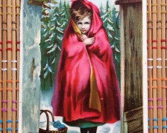 Little Red Riding Hood Victorian Advertising Card, R