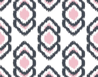 Java Navy/Pink Fabric by the Yard