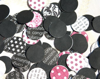 Circle garland black red & white wedding banner
