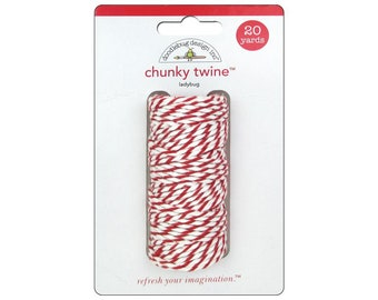 RED Chunky Baker's Twine - Cotton Twine - 20 yards - Favor Packaging - Doodlebug - Invitation supply