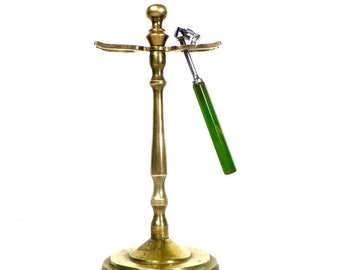 Vintage Brass Razor Stand Brass Shaving Stand Men's Razor Holder Ladies Razor holder Brass Toothbrush Holder