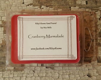Cranberry Marmalade Soy Wax Melts - Scented Wax- Housewarming Gift - Cranberry Marmalade Candle Christmas Candle