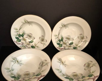 Livonia by MEITO,NORLEANS China Livonia Rimmed Soup Bowl Set 4