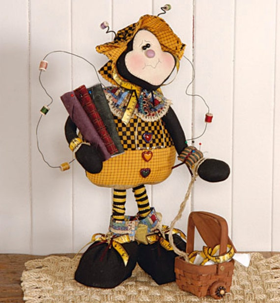 """Doll KIT: Beeatrice - 19"""" Quilting Bee Full Kit of supplies"""