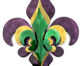 3- Part Mardi Gras Fleur De Lis