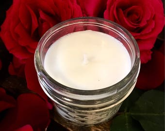 Rose City Soy Candle, Handmade, Rose candle, flower candle, Mothers Day gift, All natural candle, made in Portland Oregon, Easter