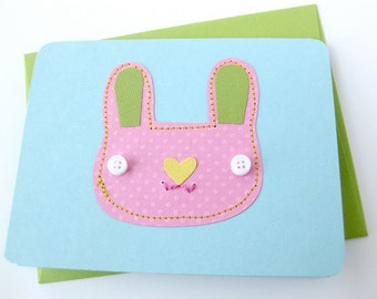 Easter Sale // Bunny Card & Collage Art