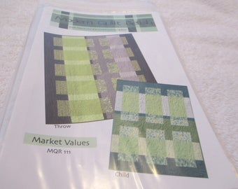 Quilt Pattern for a quilt called Market Values by Modern Quilt Relish in two sizes