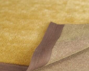 4mm Golden Tan Dark Back 420S Short German Mohair 1/8 or Over 1/8 Yard