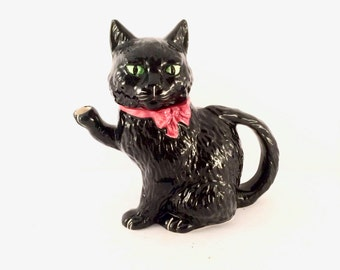 Antique Shorter and Son Cat Teapot / Hand painted Staffordshire England