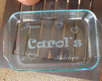Casserole Glass Dish - Laser Engraved