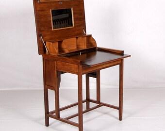 """Folding desk """"Klappauf"""", Oak, vintage, 1897"""