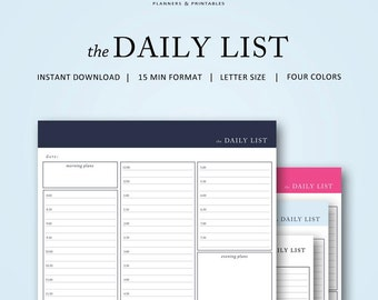 the Daily To Do List   15 min   Instant Download