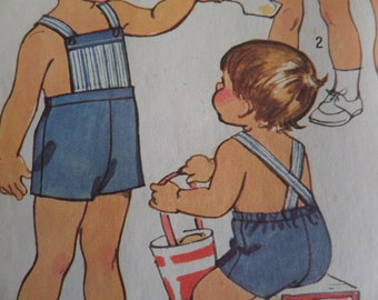 SHORT OVERALLS Pattern • Simplicity 5647 • Toddler 1 • Laced Shirt • Toddler Shorts • Sewing Patterns • Childrens Patterns • WhiletheCatNaps