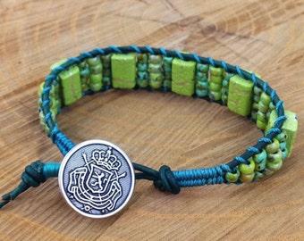 Green & Turquoise Ladder Bracelet