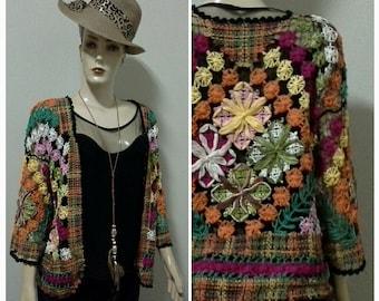 Filet lace sweater