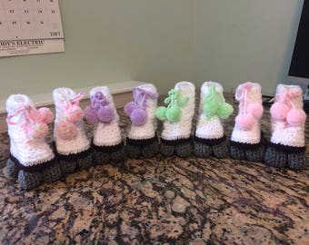 Roller Skate Style baby booties - Pastel collection