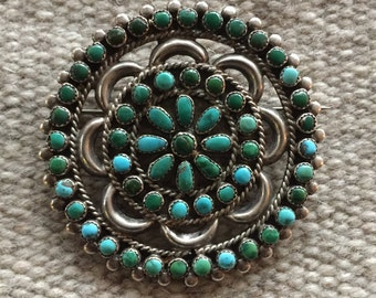 Native American Cluster Brooch