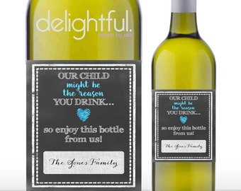 Instant Download Teacher Gift Wine Labels / Teacher Appreciation, Last Day of School, Funny, Humor - Digital File