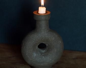 Candleholder, ceramic vase