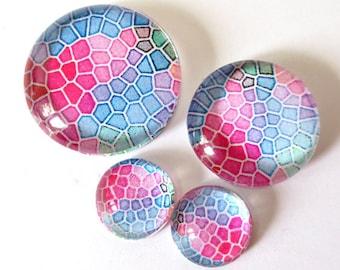 """Set 4 """"Tile 6"""" (craftsmanship) theme cabochons 12mm / 20mm / 25mm"""