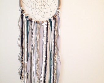 Dreamcatcher, Bohemian Dreamcatchers, Boho chic, Blues & Neutral Colors, Boho Decor, Modern Dreamcatcher, Nursery Decor, 3 Sizes Available