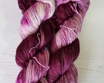 Daeirose 4ply hand dyed sock yarn.