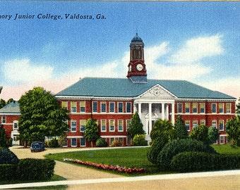 Emory Junior College Valdosta Georgia Vintage Postcard (unused)