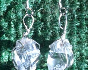 Herkimer Diamond Earrings in Sterling Silver
