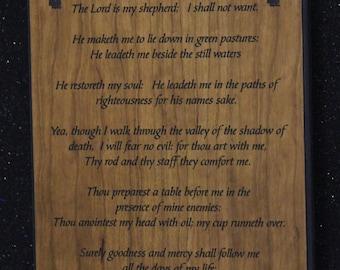23rd  psalms plaque