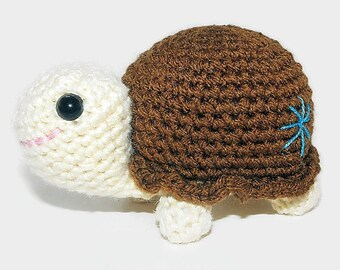 Crocheted Turtle Binkie
