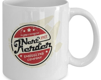 Nerf herder america rock band smuggling company coffee mug cup (white) 11oz nerf herder star wars comic tatooine gift merchandise pin shirt