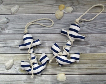 Anchor toy, sea anchor - 2 pieces, marine decor for children's room, bathroom decor, sea toy, sea key chains for beach bags and backpacks.