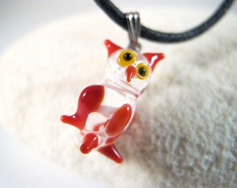 Red Owl Pendant