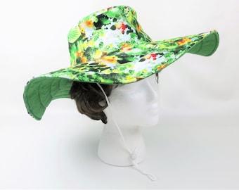 Floral Handmade Hat, Women Garden Hat, Large Summer Hat, Bucket Hat, Women Hat, Gifts Under 30, Floppy Hat, Sun Hat, Wide Brim Hat, Gift